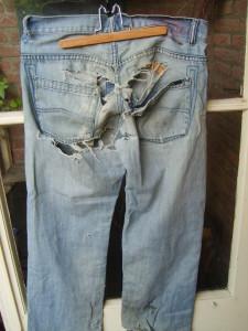 versleten spijkerbroek